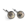 Swirly Moonshine Silver Leverback Earrings