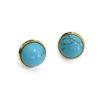 Blue Howlite Gold Post Earrings