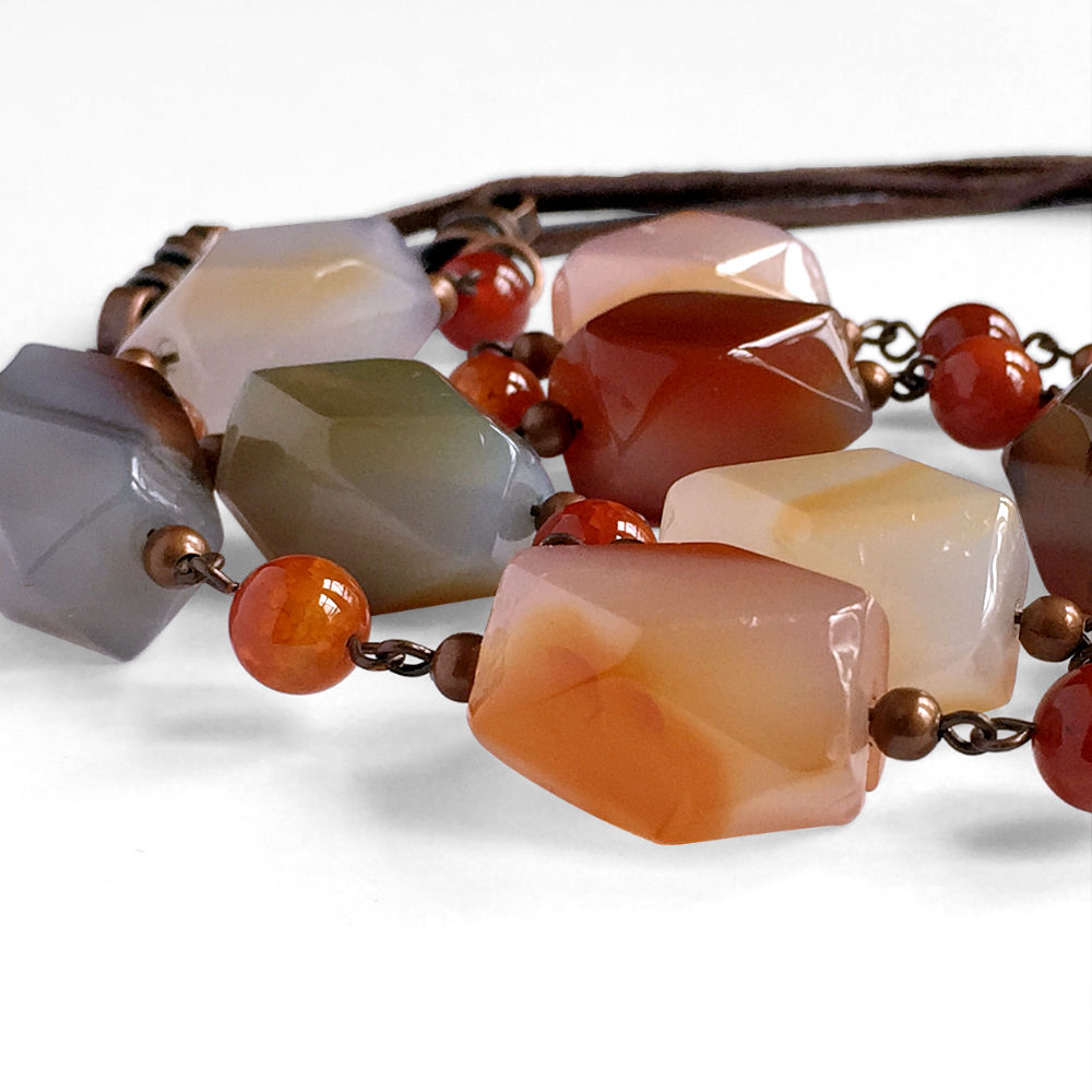 Multi-Colored Agate Necklace