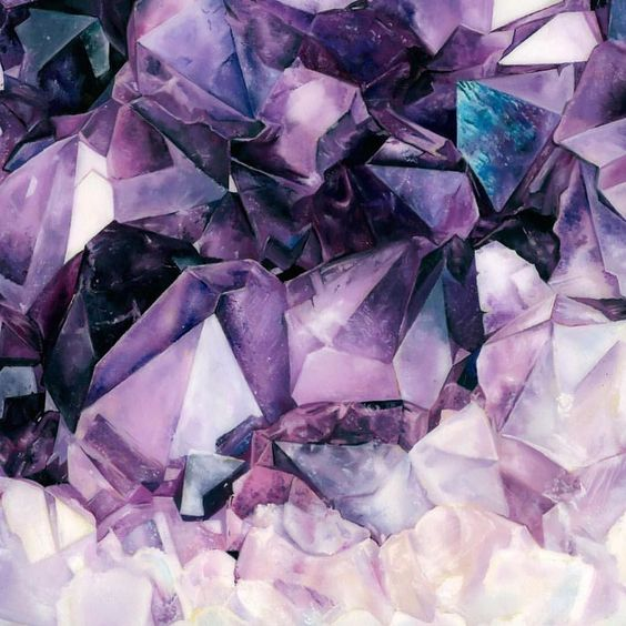 Amethyst Gemstones Watercolor