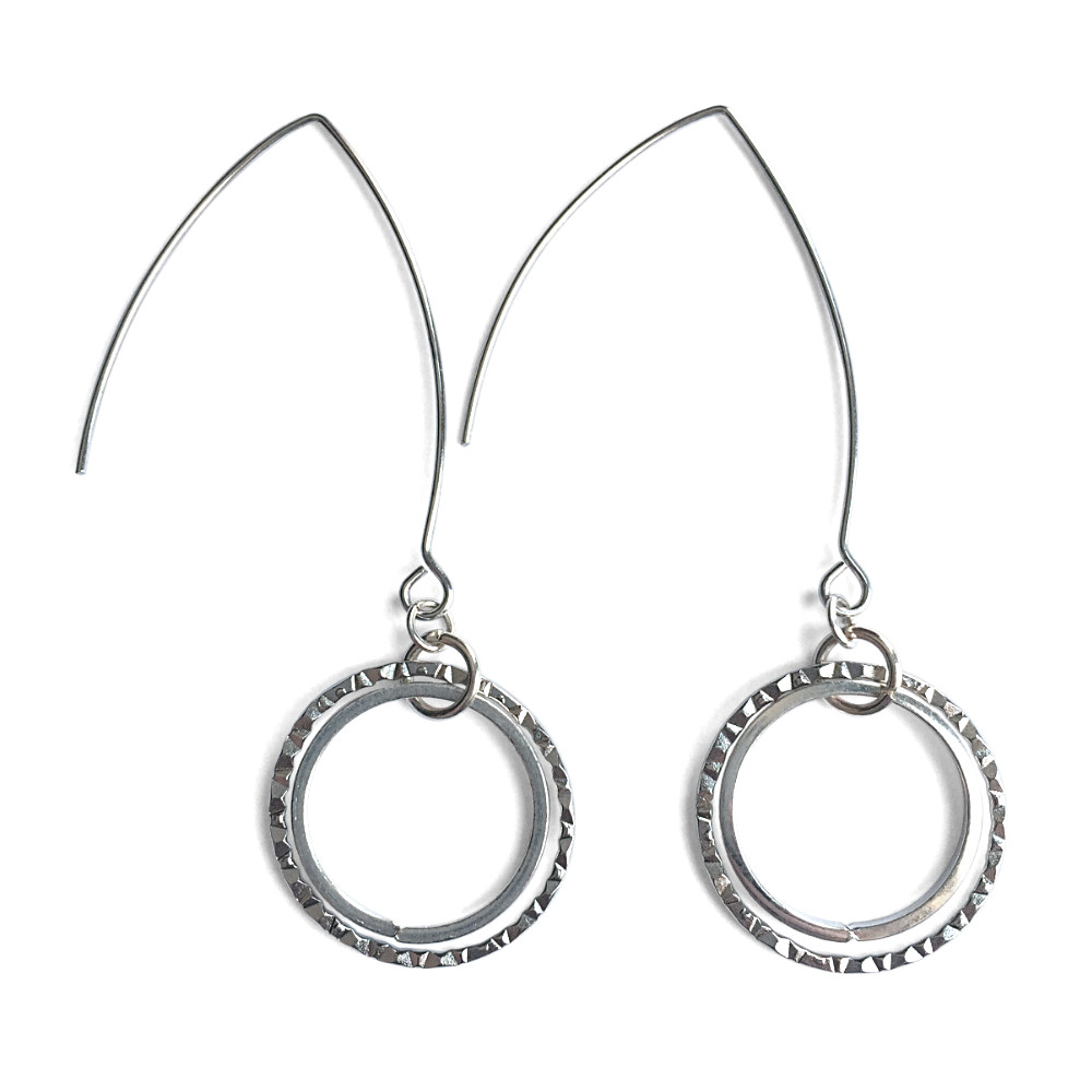 Double Ring Dangle Earrings