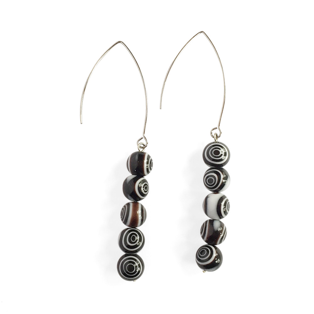 Bullseye Bead Drop Earrings