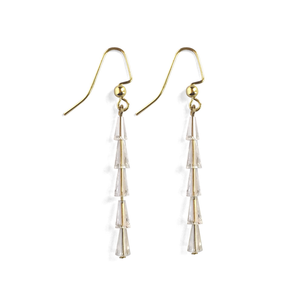 Tapered Crystal Cone Earrings