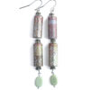 Double Tube Paper Earrings