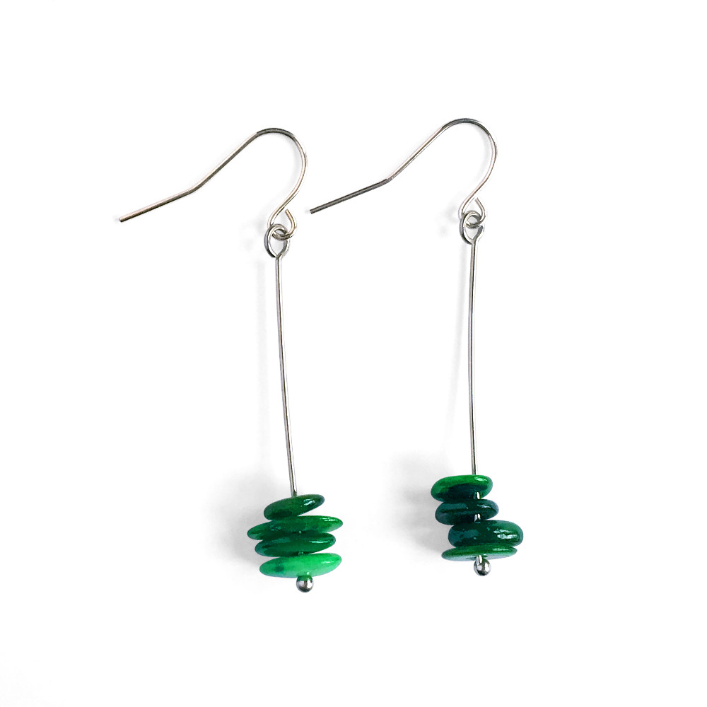 Long Disc Earrings