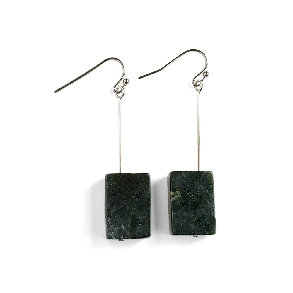 Rectangle Serpentine Drop Earrings