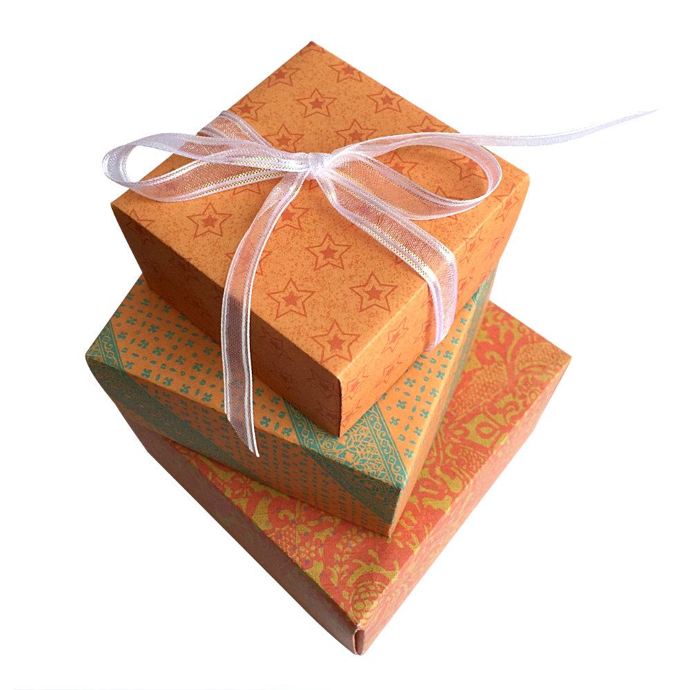 Orange Gift Boxes