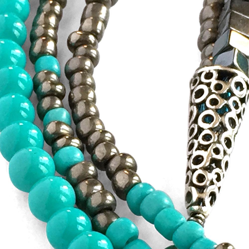 Turquoise Hematite Necklace