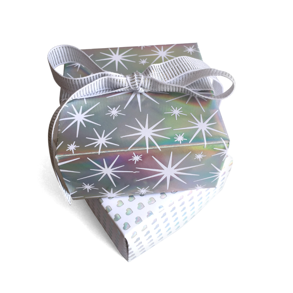 Silver Holographic Gift Boxes