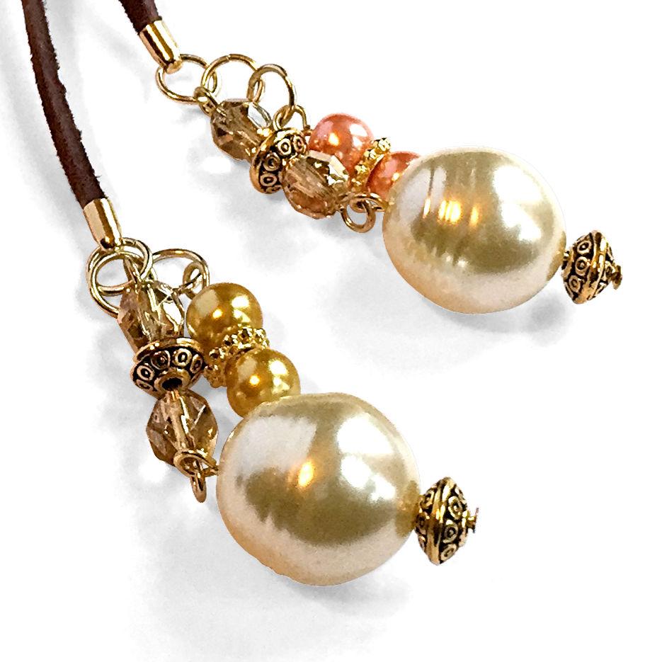 Brown Suede Lariat Necklace