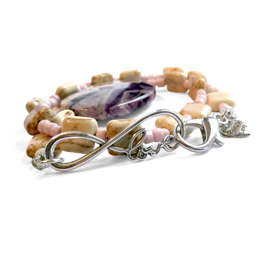 Magnesite & Amethyst Bracelet