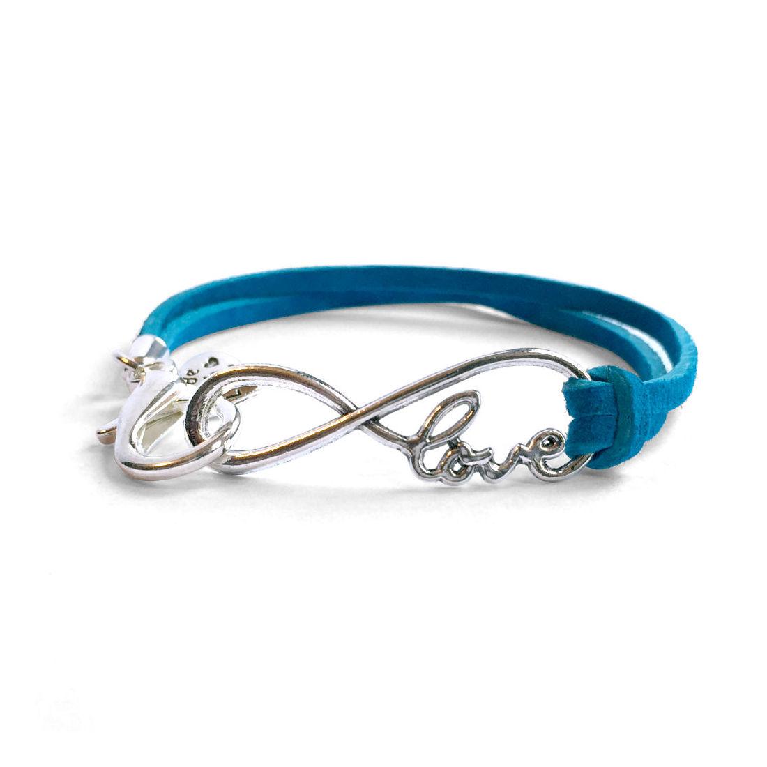 Suede Infinity Love Bracelet