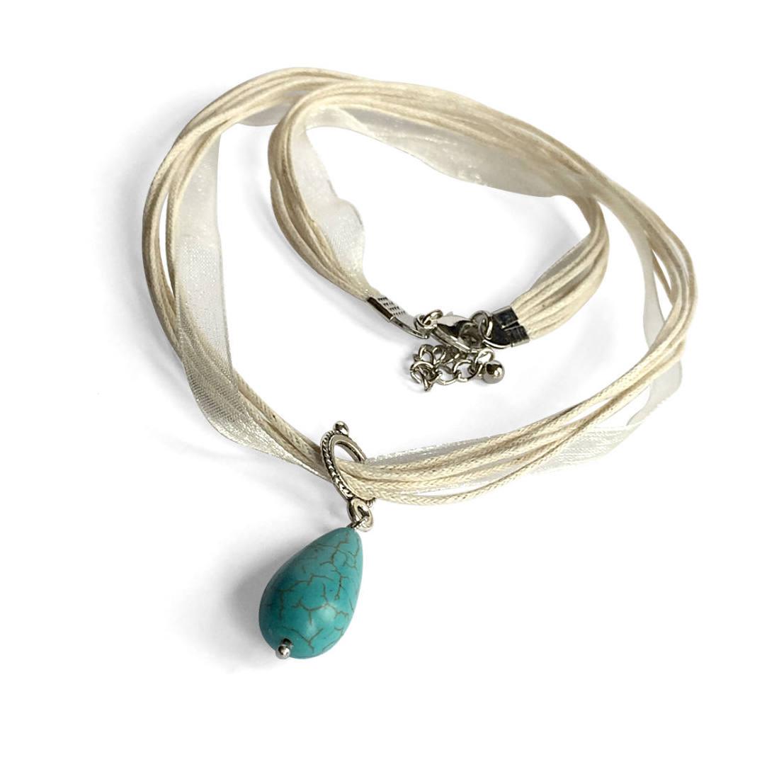 turquoise teardrop stone pendant