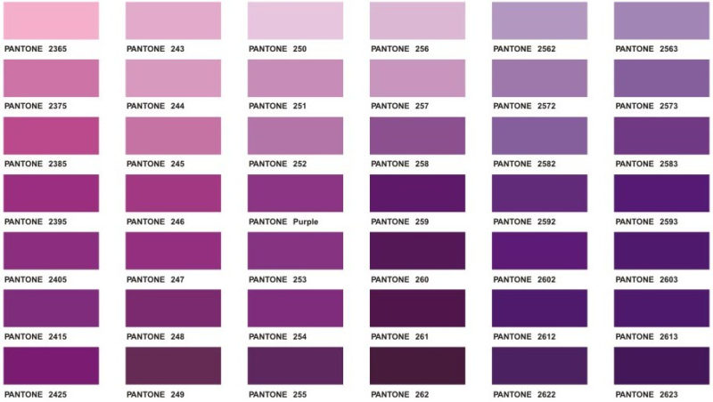 Pantone Purple Color Chart